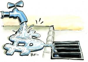 desperdício de água em condomínios